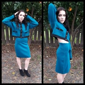 Gorgeous! Vintage 80's Mac and Maggie skirt set!